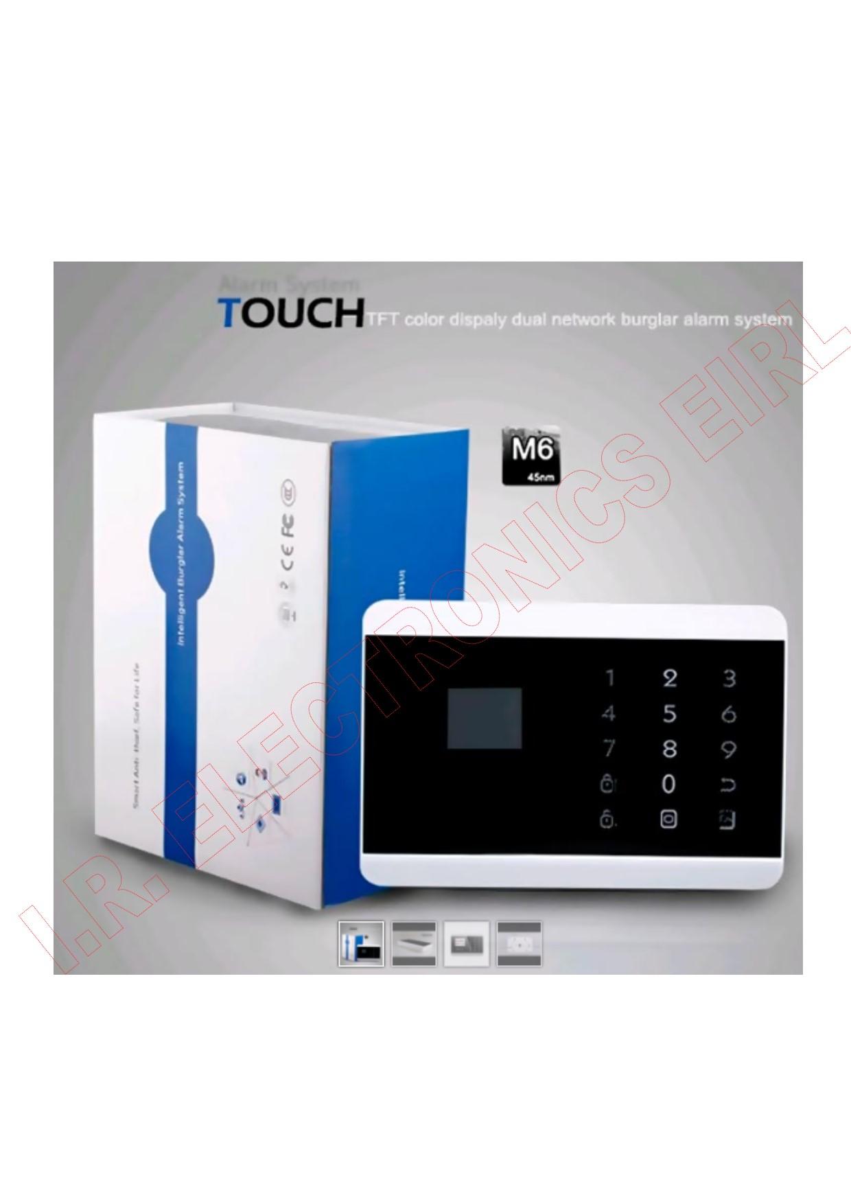 Sistema de alarma de seguridad de pantalla t ctil - Sistema de alarma gsm ...