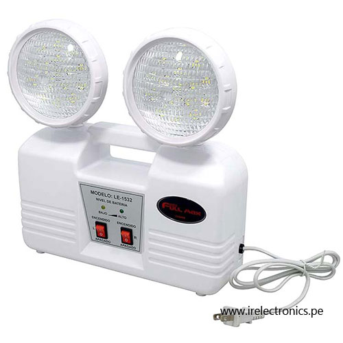 Luz de emergencia 32 leds 8 horas full max le 1532 i r - Luces emergencia led ...